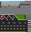 Plot road highway street with the store With a vector image