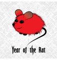rat mouse chinese horoscope animal sign the art vector image vector image