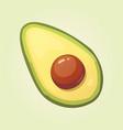realistic fresh avocado fruit vector image vector image