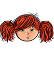 Red head girl smiley vector image vector image