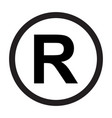 registered trademark icon vector image vector image