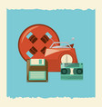 retro objects design vector image