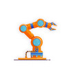 robot arm manipulatormechanical hand isolated on vector image vector image
