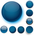 Round dark blue icons vector image vector image