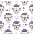 seamless color pattern with skull vector image vector image