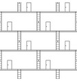 seamless pattern black stairs up with exit door vector image vector image