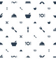 serving icons pattern seamless white background vector image vector image