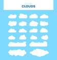 set of 20 white cloud vector image