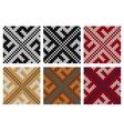 Set of Swastika knitting seamless patterns vector image vector image