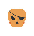 skull with patch trick or treat happy halloween vector image