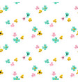 small flower seamless pattern vector image vector image