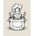 smiling boy cooking vector image vector image