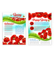spring holidays poster template with poppy flower vector image vector image