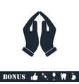 supporting hands icon flat vector image vector image