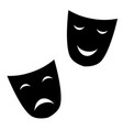 theatrical masks are black vector image