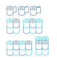 toilet paper rol set icon collection symbol for vector image