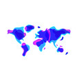 trendy liquid shaped world map in vector image