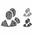 users mosaic icon raggy items vector image vector image