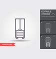wardrobe line icon with editable stroke vector image vector image