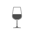 Wineglass with wine sign symbol icon vector image vector image