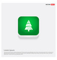 x-mas tree icon green web button vector image
