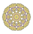 Yellow Round Ornament vector image