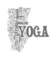 yoga in sickness and in health text word cloud vector image vector image