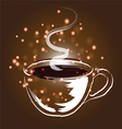 Coffee cup and coffee elements vector image