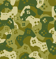 Military texture from gaming joysticks Army vector image