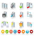 database icons vector image