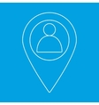 Man map marker icon vector image