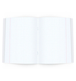 Open copy book on white background vector image