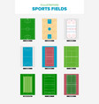 9 of the worlds most popular sports fields seen vector image