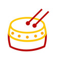 abstract chinese tanggu drum graphic vector image vector image