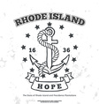 Anchor with rope and hope Design elements T-shirt vector image vector image