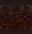 assorted gold vintage frames vector image