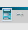 bank cash machine atm - automated teller machine vector image
