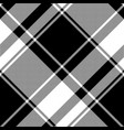 black white check pixel pattern seamless plaid vector image vector image