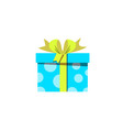 blue gift box icon isolated on white background vector image vector image