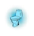 Blue toilet comics icon vector image vector image