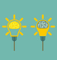 brain in light bulb vector image vector image