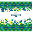 Bright carnival background and sign Welcome to vector image