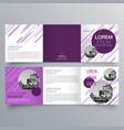brochure design 952 vector image vector image
