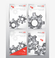 brochure design template set of cover vector image