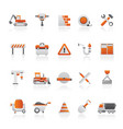 building and construction icons vector image vector image