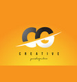 cg c g letter modern logo design with yellow vector image