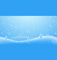 christmas holiday 3d background winter snow vector image