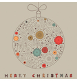 Christmas Patterned Bauble Card vector image vector image