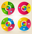 Circle step with icons template vector image