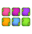 colorful app icons with different patterns vector image vector image